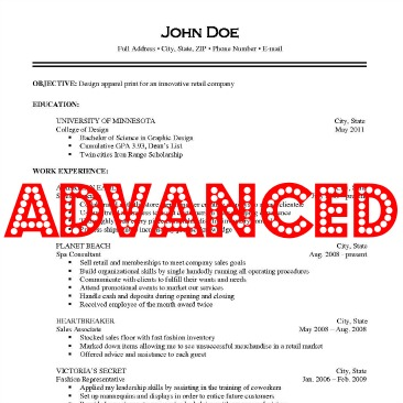 advanced resume 28 images advanced resume concepts