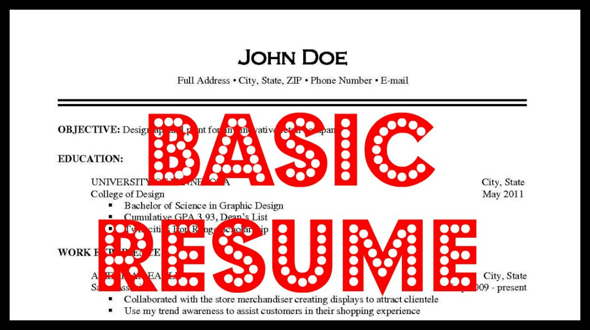 basic resume iv careers